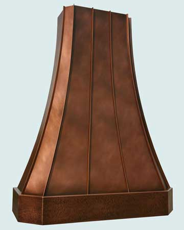 Custom Copper Range Hoods Tall French Sweep 2774