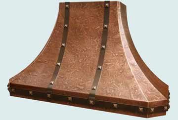 Custom Copper Range Hood #2775 | Handcrafted Metal Inc