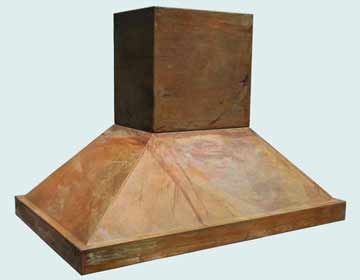 Custom Copper Range Hood #2776 | Handcrafted Metal Inc