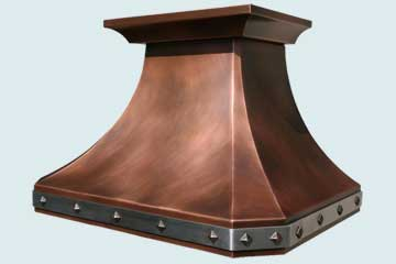 Custom Copper Range Hoods French Country 2777