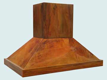 Custom Copper Range Hood #2780 | Handcrafted Metal Inc