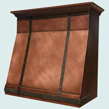 Custom Copper Range Hoods Slope Front 2781