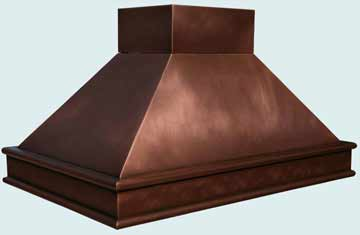 Custom Copper Range Hoods Pyramid 2782