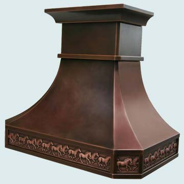 Custom Copper Range Hoods Tall French Country 2788
