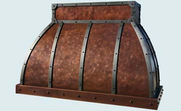 Custom Copper Range Hoods Double Roll 2789