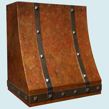 Custom Copper Range Hood #2796 | Handcrafted Metal Inc