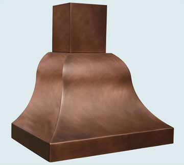 Custom Copper Range Hood #2797 | Handcrafted Metal Inc