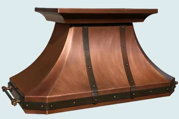 Custom Copper Range Hoods French Country 2798