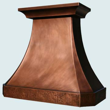 Custom Copper Range Hoods French Country 2799