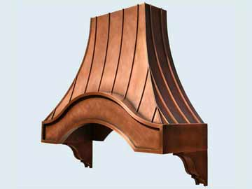 Custom Copper Range Hoods Eyebrow 2800