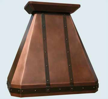 Custom Copper Range Hood #2801 | Handcrafted Metal Inc