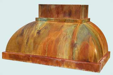 Custom Copper Range Hoods Double Roll 2802