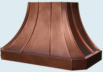 Custom Copper Range Hoods French Sweep 2805