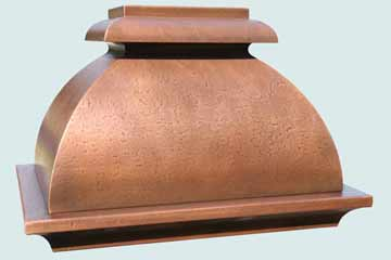 Custom Copper Range Hoods French Bell 2808