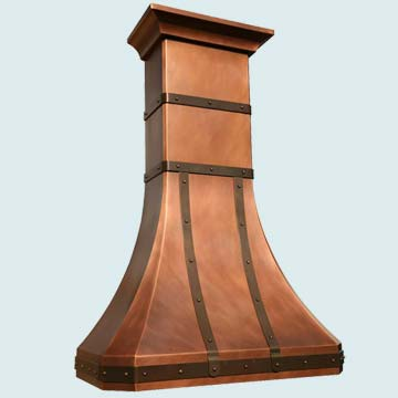 Custom Copper Range Hoods Tall French Country 2809