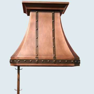 Custom Copper Range Hoods Tall French Country 2810