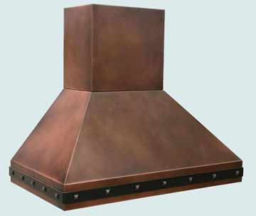 Custom Copper Range Hood #2904 | Handcrafted Metal Inc
