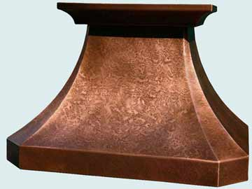 Custom Copper Range Hoods French Country 2907