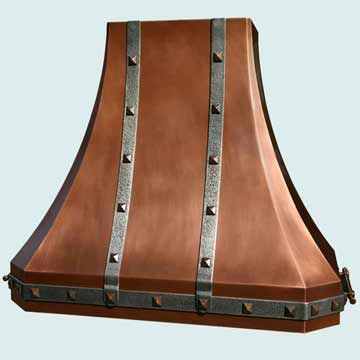 Custom Copper Range Hood #2908 | Handcrafted Metal Inc