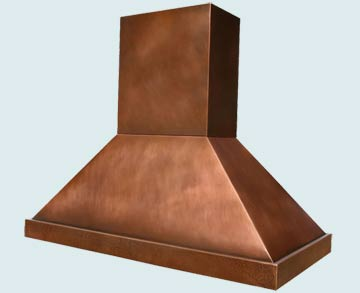 Custom Copper Range Hood #2910 | Handcrafted Metal Inc