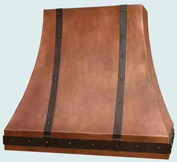 Custom Copper Range Hoods Double Sweep 2912