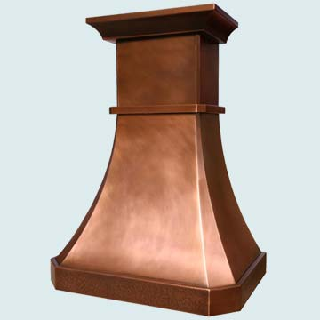 Custom Copper Range Hoods Tall French Country 2913