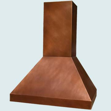 Custom Copper Range Hood #2914 | Handcrafted Metal Inc