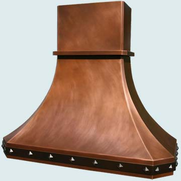 Custom Copper Range Hood #2955 | Handcrafted Metal Inc