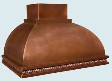 Custom Copper Range Hoods Double Roll 2956