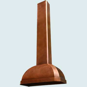 Custom Copper Range Hoods French Roll 2959