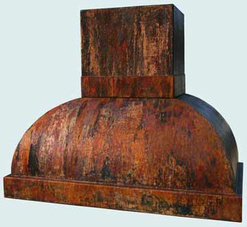 Custom Copper Range Hoods Double Roll 2971