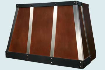 Custom Copper Range Hood #2975 | Handcrafted Metal Inc