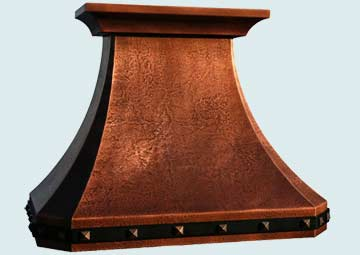 Custom Copper Range Hoods French Country 2981