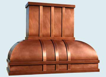 Custom Copper Range Hoods Double Roll 2982