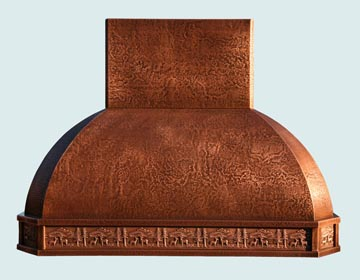 Custom Copper Range Hoods French Roll 2999
