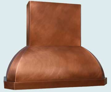 Custom Copper Range Hoods French Roll 3015