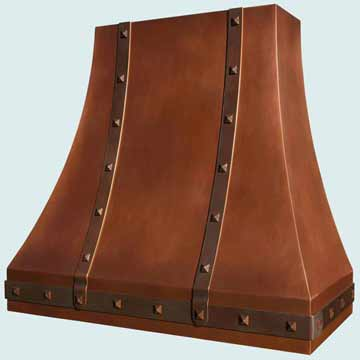 Custom Copper Range Hoods Double Sweep 3023