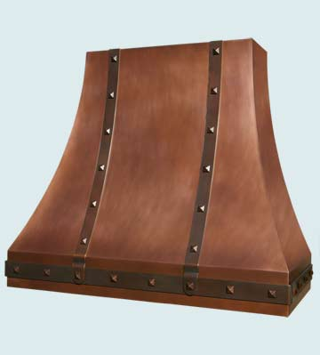Custom Copper Range Hood #3023 | Handcrafted Metal Inc