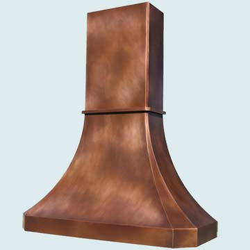 Custom Copper Range Hoods Tall French Sweep 3024