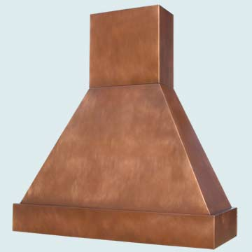 Custom Copper Range Hood #3025 | Handcrafted Metal Inc
