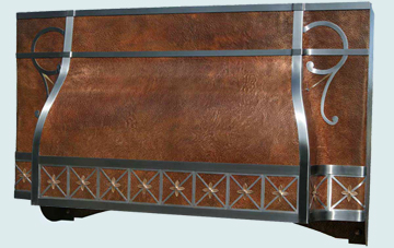 Custom Copper Range Hood #3054 | Handcrafted Metal Inc