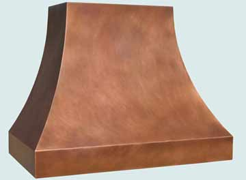 Custom Copper Range Hoods Double Sweep 3033