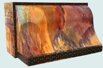 Custom Copper Range Hood #3058 | Handcrafted Metal Inc