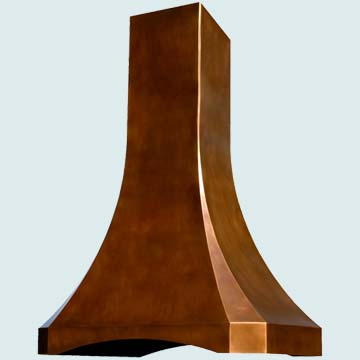 Custom Copper Range Hoods Tall French Sweep 3091