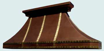 Custom Copper Range Hood #3095 | Handcrafted Metal Inc