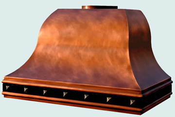 Custom Copper Range Hood #3099 | Handcrafted Metal Inc