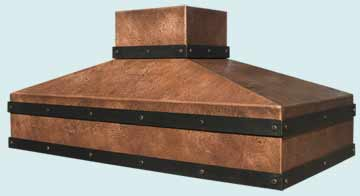Custom Copper Range Hood #3100 | Handcrafted Metal Inc