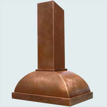 Custom Copper Range Hoods Double Roll 3103