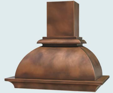Custom Copper Range Hoods French Bell 3105