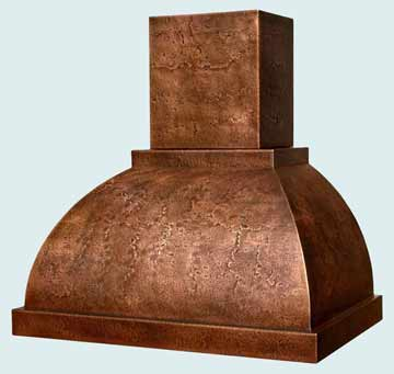 Custom Copper Range Hoods Double Roll 3106